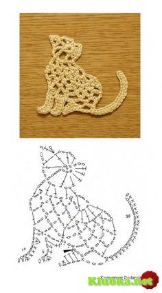 ZONA DE MANUALIDADES: Aplicaciones de gato en crochet
