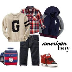 """All American Boy"" by blissnmisc on Polyvore, toddler style, preschool boy clothes"