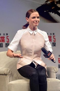 "Rebecca Ferguson during ""Mission: Impossible - Rogue Nation"" press conference in Shanghai in September 2015..."