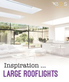 If you live in a modern home or prefer a more contemporary look, choosing larger areas of glazing is proving very popular. A roof window can offer up to 40 per cent more natural light in than traditional windows.#roofwindows #rooflights #skylights #eosrooflights