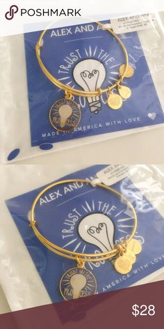 """✨JUSTIN✨NWT Alex & Ani""""Trust The Process"""" Bracelet New with tag. Still in its plastic cover. Alex and Ani Jewelry Bracelets"""