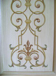 Painted Door Detail by Jeff Huckaby