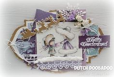 Shape Art label frame - Winter Wonderland