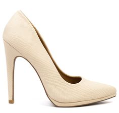 The search is over for a trusty, go-to heel! A classic shape and textured nude tone make these both work and event ready. $54