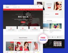 Fancy – Fashion Ecommerce Free PSD Template is the perfect Product showcase PSD template. Fashion Ecommerce Free PSD Template is a better way to present your modern business. You can easily change any design. It's easy to customize and also well documented. Fancy Ecommerce Free PSD Template files are built to be 1170 grid system. … Free Website Templates, Psd Templates, Ecommerce Jobs, Grid System, Online Clothing Stores, Cool Style, Fancy, Change, Business