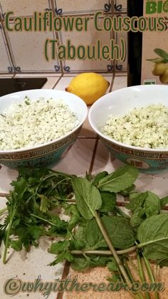 With or without olive oil, this Caluiflower Couscous is deliciously gluten free and grain free. Cauliflower Couscous, Gluten Free Recipes, Grain Free, Olive Oil, Cabbage, Salads, Grains, Rolls, Vegan