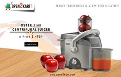 SHOP NOW! OSTER 3168 CENTRIFUGAL JUICER at OPEN2KART,Which makes fresh juice & keeps you healthy.for more visit http://open2kart.com/
