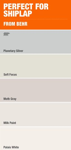 Check out Home Depot to find all the best and top trending paint colors, all at your fingertips – like this selection to go with a trending topic on Pinterest, Shiplap! Learn more at HomeDepot.com.