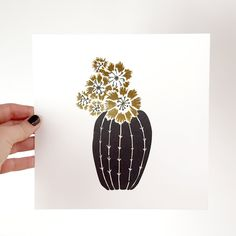 Barrel Cactus print | Odd Daughter Paper Co