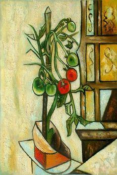 Picasso ~ Planta de tomate (13,456,000$,   Christie's, 2006)