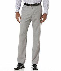 Perry Ellis Herringbone FlatFront Pants #Dillards