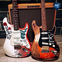 Eric Clapton's And Stevie Ray Vaughn's Fender Stratocaster's