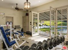 Angelina Jolie's home features a workout room with a view.