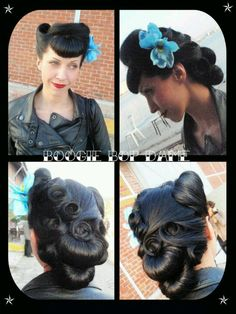 Awesome hair rolls. I would love to have my hair done this way!!