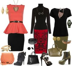 """""""Pencil skirts"""" by carolwatergirl on Polyvore"""