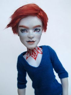 Monster High OOAK Invisi Billy custom doll repaint by theWhandigo