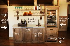 Mini Bar Under Stairs | Pioneer Woman's bar area at the Lodge