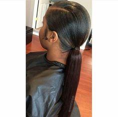 Slick ponytail more low weave Elegant Hairstyles, Black Girls Hairstyles, Extended Ponytail, Slick Ponytail, Curly Ponytail, Curly Hair Styles, Natural Hair Styles, Weave Ponytail Hairstyles, Prom Hairstyles