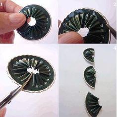 Segnaposto con il riciclo creativo delle capsule nespresso