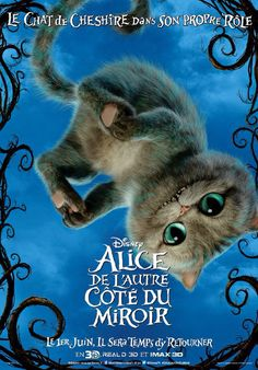 Alice through the Looking Glass Character Poster - The Chesire Cat Cheshire Cat Disney, Chesire Cat, Cheshire Cat Tim Burton, Lewis Carroll, Adventures In Wonderland, Alice In Wonderland, Gato Alice, Series Poster, Walt Disney
