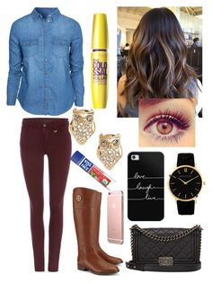 """""""Untitled #136"""" by nicolette-music ❤ liked on Polyvore featuring New Look, True Religion, Tory Burch, Kate Spade, Chanel, Kiss My Face, Casetify and Larsson & Jennings"""