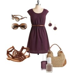 """""""Tan and Purple"""" by kaseyofthefields on Polyvore"""