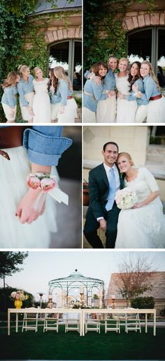 These are definitely my type of bride's maid dresses! LOVE!