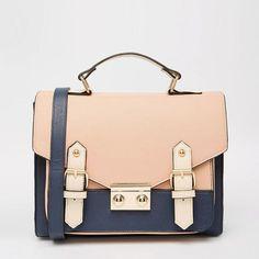 Buy ASOS Colour Blocked Satchel Bag at ASOS. Get the latest trends with ASOS now. Prada Handbags, Satchel Handbags, Luxury Handbags, Fashion Handbags, Purses And Handbags, Fashion Bags, Satchel Bag, Designer Handbags, Blue Handbags