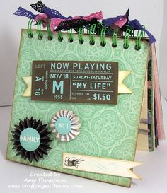 Crafting with Amy: My First Album with my new Cinch binding machine