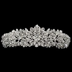 Real Austrian Crystal Rhinestone Wedding Crown Tiara Headband Hair Jewelry Accessories JHA4714 -- Check out this great product.(This is an Amazon affiliate link and I receive a commission for the sales)
