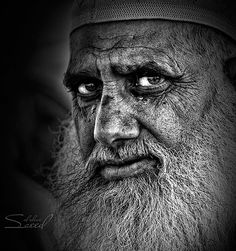 Faces of Old People in Black and White Photography | InspireFirst - by Saeed Al Alawi