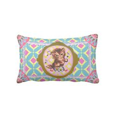 Kitten Pastel Kitsch For A Bedroom or Nook - Pillows