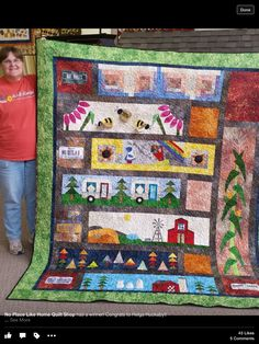 Love the barn rows! Strip Quilts, Scrappy Quilts, Quilt Blocks, Row By Row Experience, Western Crafts, Sew Simple, Sampler Quilts, Quilt Making, Making Ideas