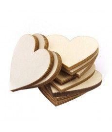 Houten harten hartjes hout 4 cm +/-50stuks / zak
