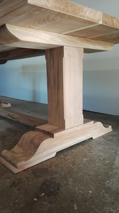 Bespoke Pedestal Refectory Table - Furniture indoor and outdoor - Woodworking Farmhouse Dining Room Table, Diy Dining Table, Trestle Table, Table Maker, Wood Table Legs, Diy Esstisch, Wood Table Design, Handmade Table, Table Furniture