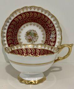 Cup And Saucer Set, Tea Cup Saucer, Royal Stafford, Romantic Cottage, Romantic Homes, Porcelain Mugs, Tea Service, Royal Albert, Bone China