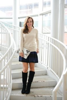 A Gap sweater and skirt as featured on the blog Sharing My Sole by @Jaclyn Schler.