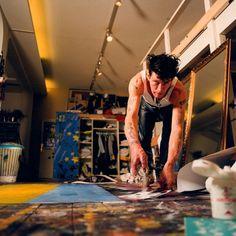 Herman Brood aan het werk (foto: Cindy Marler)