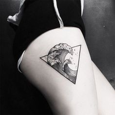 Tatuagem do símbolo água