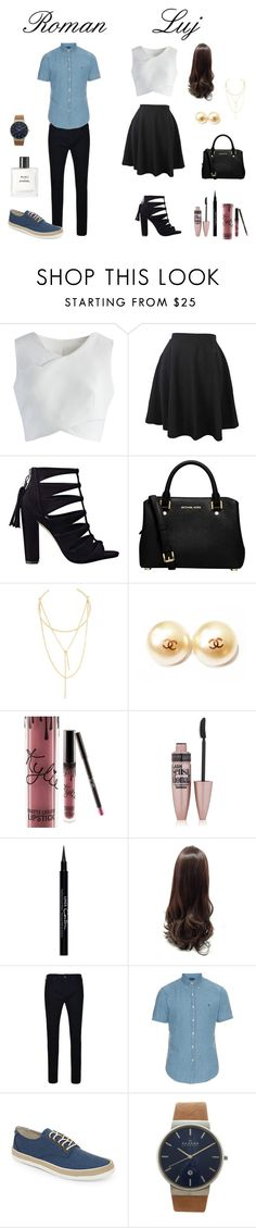 """Sin título #6"" by lujbris ❤ liked on Polyvore featuring Chicwish, MICHAEL Michael Kors, Jules Smith, Chanel, Kylie Cosmetics, Maybelline, Givenchy, True Religion, Polo Ralph Lauren and Original Penguin"