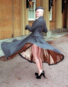 Photograph-Vivienne Westwood - OBE - Buckingham Palace, London-Photograph printed in the USA Vivienne Westwood, Buckingham Palace, God Save The Queen, Provocateur, Advanced Style, Punk, London Fashion, Uk Fashion, Timeless Fashion
