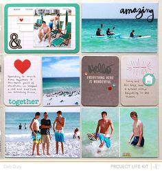Pocket Scrapbooking, Scrapbook Cards, Scrapbooking Ideas, Scrapbook Layouts, Project Life Scrapbook, Project Life Layouts, Vacation Scrapbook, Life Page, Studio Calico