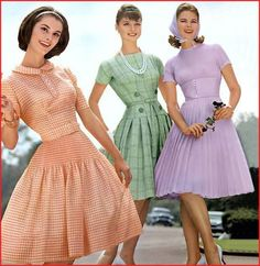 Vintage Outfits, 50s Outfits, Vintage Dresses, Fashion Outfits, Fifties Fashion, Retro Fashion, Vintage Fashion, 1950s Style, Die Frauen Von Stepford