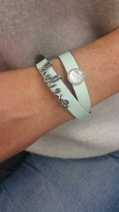 Beautiful light blue bracelet ideas from Keep Collective.