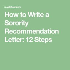 Write A Letter Of Recommendation Step By Step  Backyard