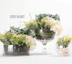 ZOO·MART 清新湖蓝色组合花艺B 法式 美式 新古典样板房/摆设