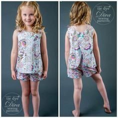 Awesome Image of Sewing Patterns Girls Sewing Patterns Girls Open Back Top Pattern For Girls Sizes 2 To 910 Tie Dye Diva Sewing Projects For Kids, Sewing For Kids, Free Sewing, Top Pattern, Free Pattern, Pants Pattern, Pocket Pattern, Sewing Patterns Girls, Pdf Patterns