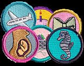 cute - merit badges for moms (including shopping with kids, breastfeeding, etc)