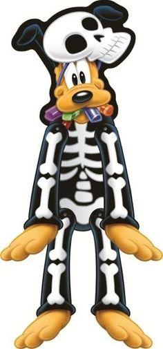 Wspaniała ozdoba na przyjęcie halloweenowe dla dzieci. Pies Pluto - kościotrup :)