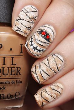 Halloween nail art-44 - 65 Halloween Nail Art Ideas ♥ ♥